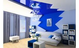 Синий натяжной потолок – красота и гармония в интерьере