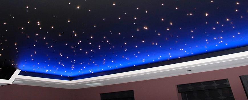 Оригинальные натяжные потолки: изюминки для вашей комнаты